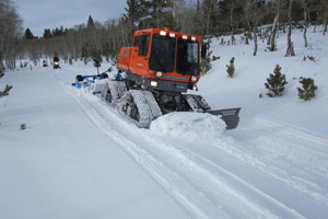 A St Lawrence County Trail being groomed