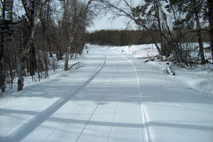 A freshly groomed trail in St Lawrence County